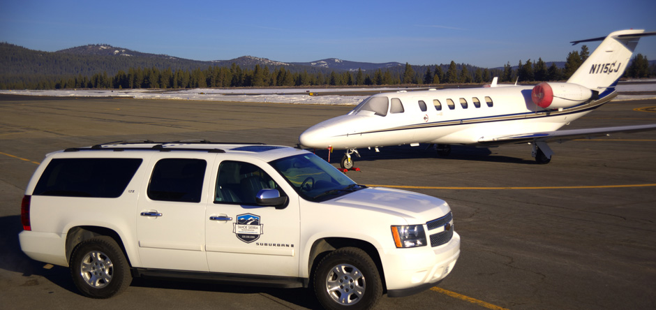 Tahoe Sierra Transportation at Truckee Tahoe Airport in Truckee, California.