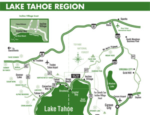 Tahoe Sierra Transportation A Private Car Service In The Truckee - Map of reno and lake tahoe